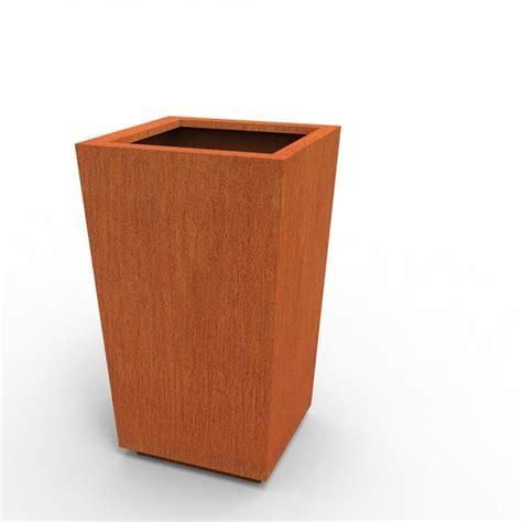 vasi in corten fioriere e vasi in corten su misura fioriere moderne per