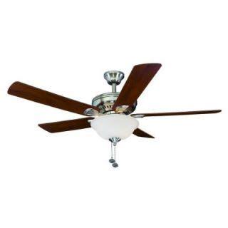springfield ii ceiling fan harbor 52 springfield brushed nickel ceiling fan on