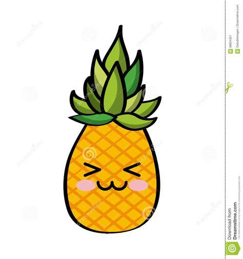 imagenes de uvas kawaii colorful kawaii fruit pineapple happy icon stock