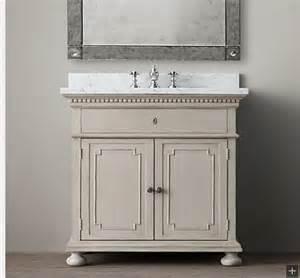 restoration hardware vanity bathrooms