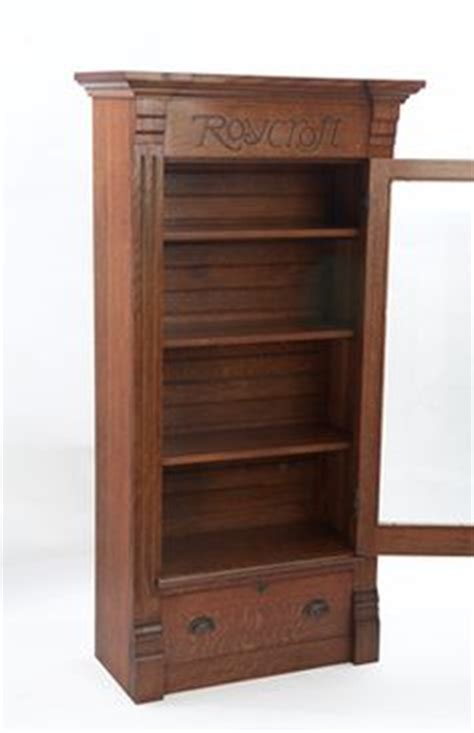 Roycroft Bookcase roycroft bookcase with leaded glass from their 1912 furniture catalog 44 5 quot wx16 25 quot dx70 quot h came