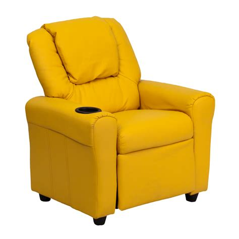 Yellow Recliner Chair by Flash Furniture Yellow Vinyl Recliner W