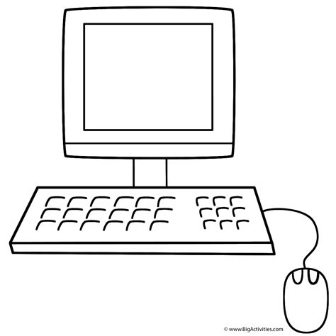 apple computer coloring pages computer coloring page back to school