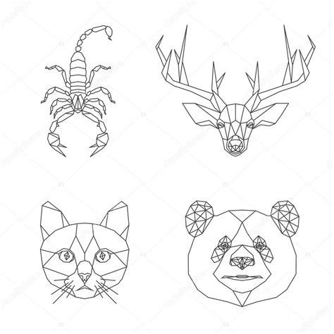 imagenes animales geometricos conjunto de animales geom 233 tricos vector de stock