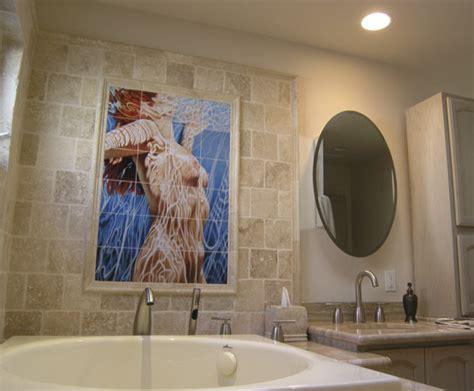 bathroom tile mural bathroom tile mural in modern bathroom design