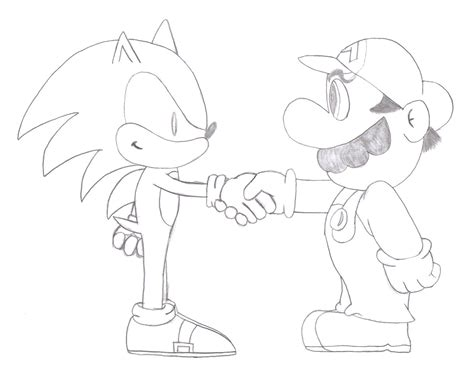 mario vs sonic coloring pages coloring pages