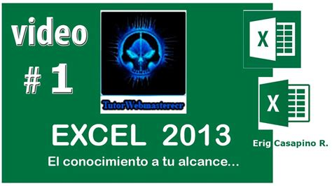 tutorial excel 2013 italiano tutorial excel 2013 introduccion video 1 youtube