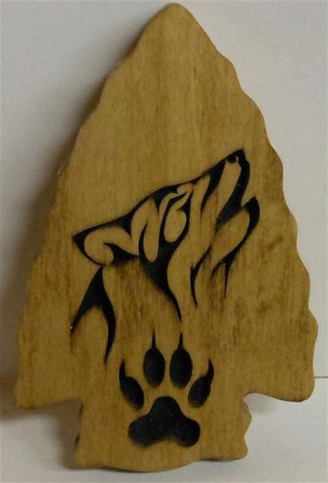 tims woodworking wolf arrow head scroll  woodwork