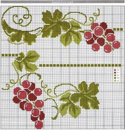 cenefas de uvas en punto de cruz pin de julia contreras en manteler 237 a uvas pinterest