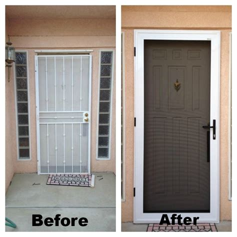 Guarda Security Screen Door Before After They Also Have Front Door Security Screen