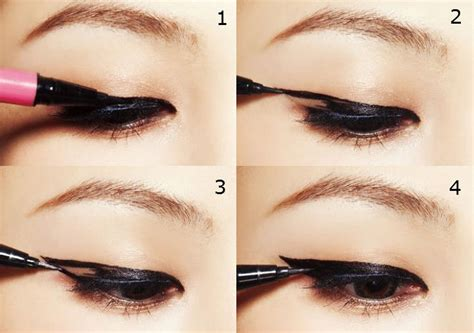 tutorial on eyeliner application how to apply eye liner according to your eye shape eye