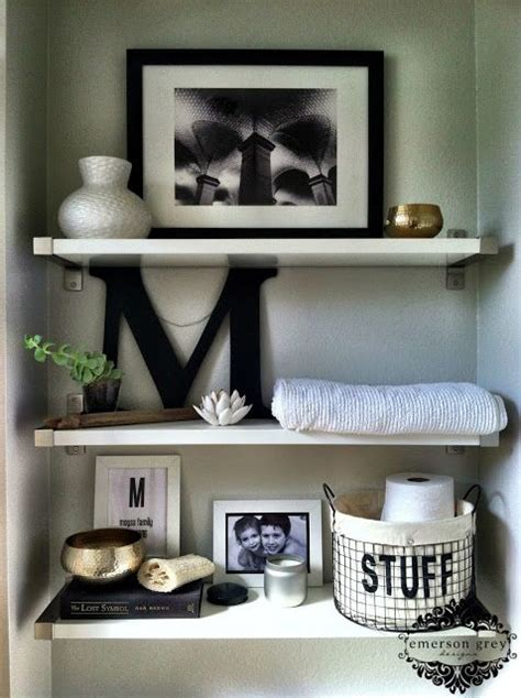bathroom shelf decorating ideas bathroom shelves shelves and bathroom on pinterest