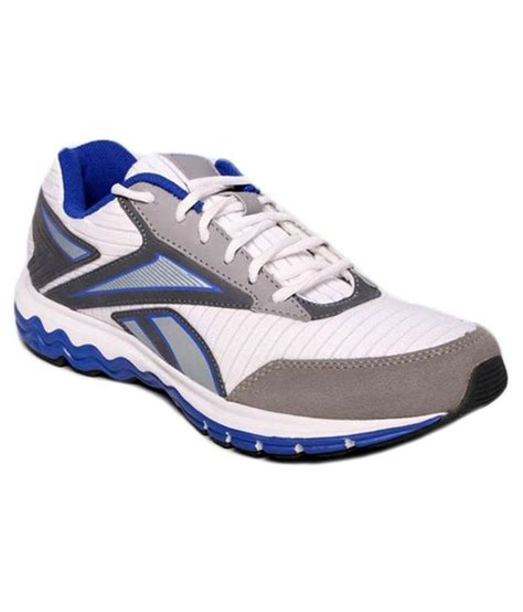 white running shoes for 44 on reebok white synthetic leather running sport