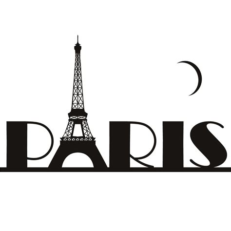 Tree Silhouette Wall Stickers paris eiffel tower france wall art sticker wall decal