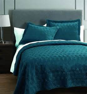 Teal Quilted Bedspread Rogen Teal 3 Coverlet Set 140 00 Now 45 At S