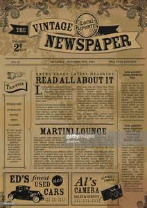 fashioned newspaper template free vintage newspaper layout design template vector