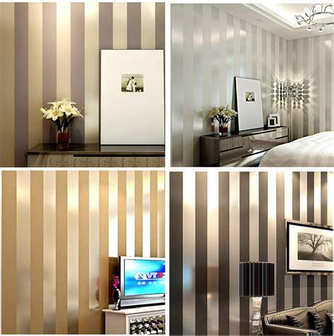 bedroom wallpaper in black white and gray one wall non woven black white silver gold glitter striped