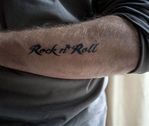 rock n roll tattoo a after my own rock n roll m ink