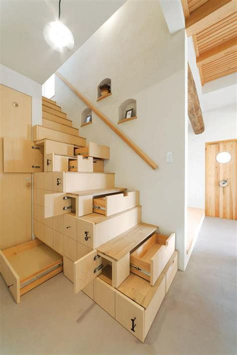 stairs storage ideas  maximize functional