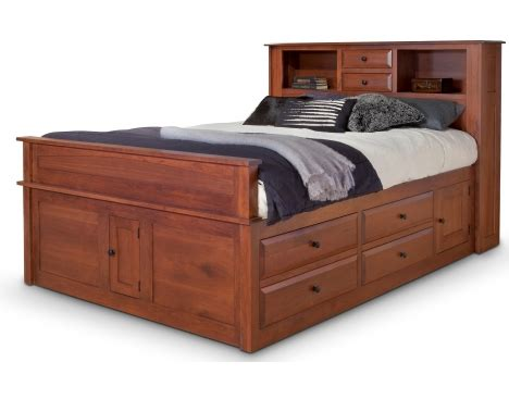 Amish Bookcase Headboard by Simplicity Captain S Bed W Bookcase Headboard And