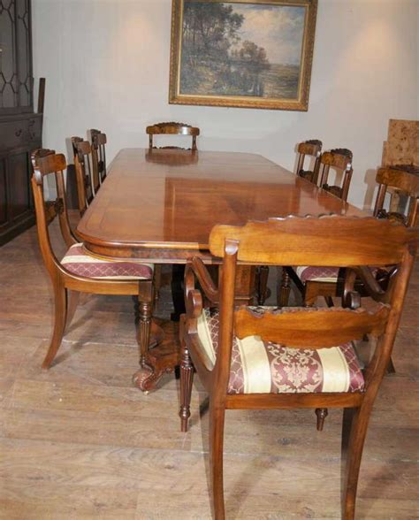walnut dining table set regency dining table walnut set inlay william iv chairs