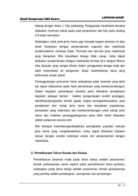 Insektisida Furadan 3g 08 bab 7 rencana konservasi das kuaro
