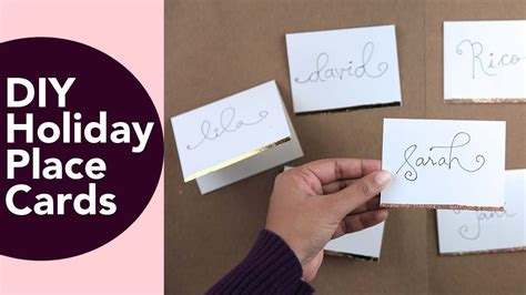 place cards diy place cards holiday or wedding diy with gold foil or