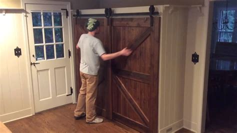 bypass cabinet door track single track bypass barn door system youtube