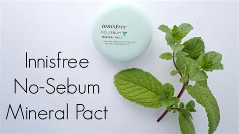 Harga Innisfree No Sebum Mineral Pact review innisfree no sebum mineral pact