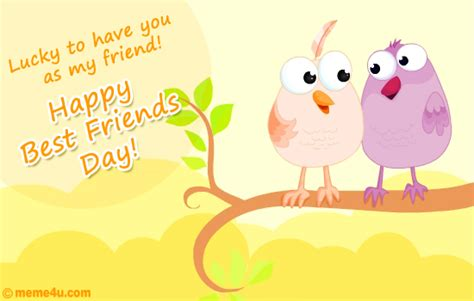 day cards friends lucky to you best friends day ecards best friends