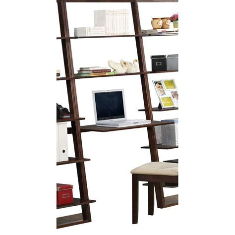 Ladder Style Computer Desk In Cappuccino 89848 Ladder Computer Desk