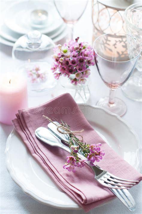 festive wedding table setting stock photo image