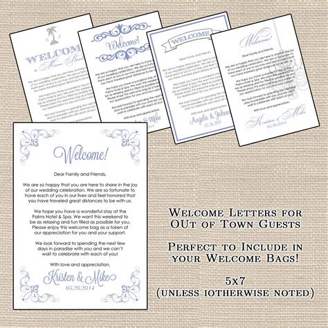 printable welcome letters hotel welcome bag letters and wedding designsbydvb