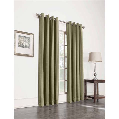 grommet blackout curtains 95 shop allen roth withern 95 in olive polyester grommet