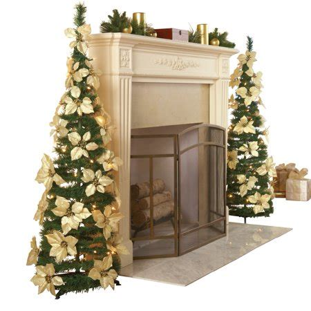 walmart pull up christmas tree white pull up poinsettia tree walmart
