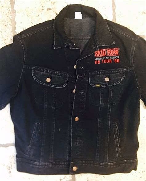 Sweater Hoodie Band Skidrow Jaket Skid Row sebastian bach selling 1995 skid row subhuman race tour jacket bravewords