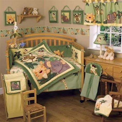 Jungle Themed Nursery Bedding Sets Jungle Themed Babies Bedding To Add Unique Character To