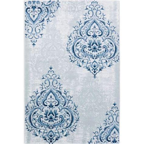 damask rug damask tonal blue rug transitional blue rugs on sale