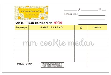 Cetak Nota 2 Ply Paket 1 Kg jual cetak nota ncr 2ply murah sprint shop