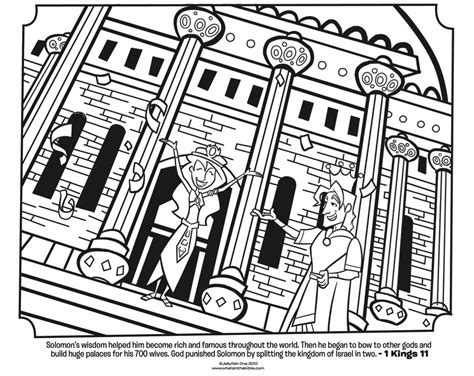 king solomon coloring pages activities king solomon and wives bible coloring page what s in