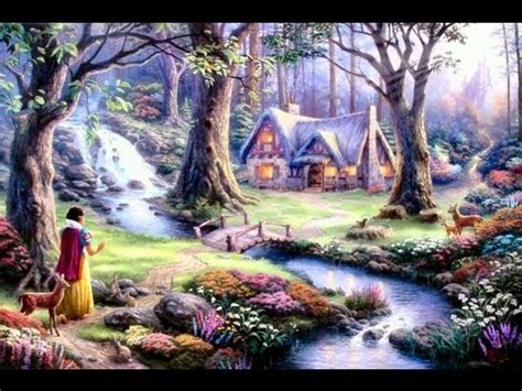 snow white discovers the cottage snow white discovers the cottage the kinkade company