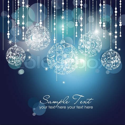 blue ornaments blue background with ornaments stock