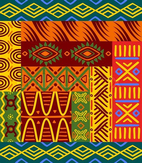 africa vector traditional background pattern abstract ethnic patterns and ornaments for design stock