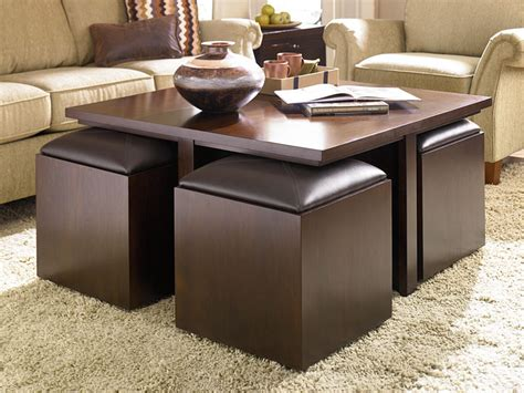 Soft Ottoman Coffee Table Get A Compact And Multi Functional Living Room Space By