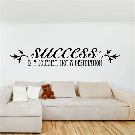 Inspirational Quotes Wall Stickers success is a journey not a destination quote decal wall