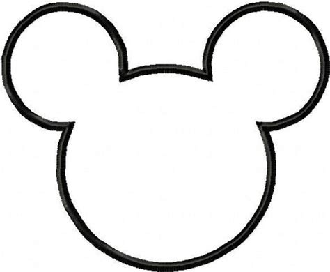 mickey mouse silhouette template mini minnie mouse birthday on a budget by