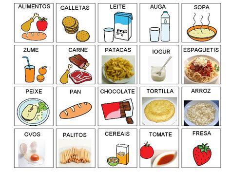imagenes de comidas en ingles y español medrando no vagalume vocabulario alimentos
