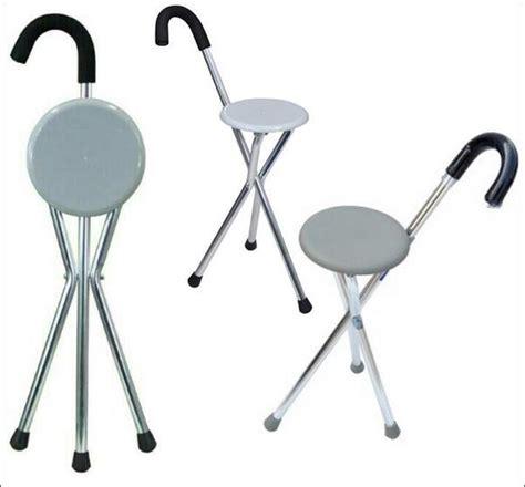 Tongkat Jalan Dengan Kursi tongkat kursi lipat alat bantu jalan 2 in 1 praktis
