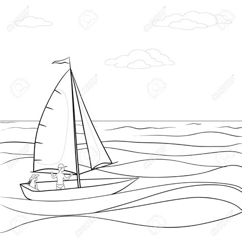 boat in sea clipart the sea clipart black and white pencil and in color the