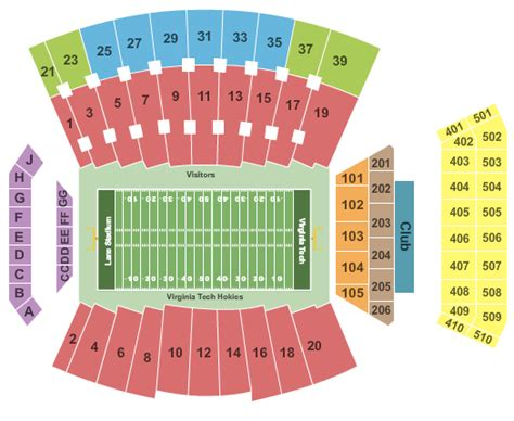 tech stadium seating capacity virginia tech hokies tickets comparedc
